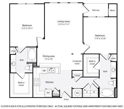 Floor Plan  Floorplan at Windsor at Contee Crossing 7810 Contee Road Laurel, MD 20707