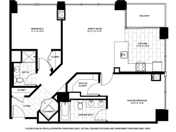 Floor Plan  Two Bedroom -02 Floorplan at Flair Tower