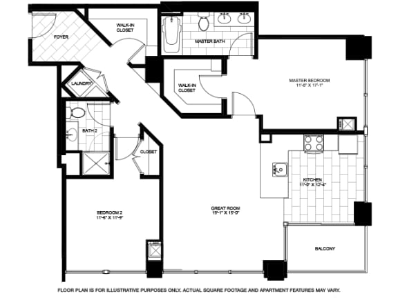 Floor Plan  Two Bedroom -04 Floorplan at Flair Tower