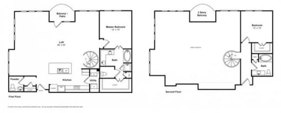 Floor Plan  Cabana Loft Floorplan at The Monterey by Windsor