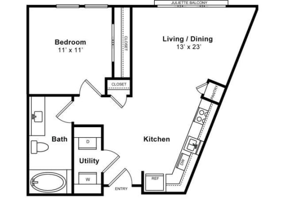 Floor Plan  Del Rey Floorplan at The Monterey by Windsor