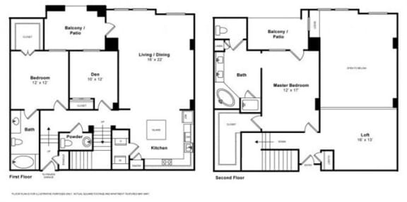 Floor Plan  Miramar Townhome Floorplan at The Monterey by Windsor