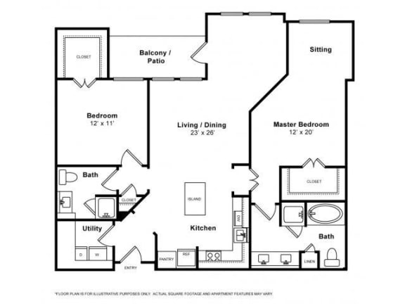 Floor Plan  Montecito Floorplan at The Monterey by Windsor
