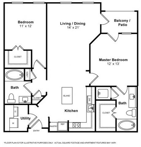 Floor Plan  Santa Cruz Floorplan at The Monterey by Windsor