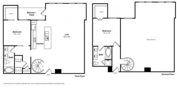 Floor Plan  Toscana Loft Floorplan at The Monterey by Windsor