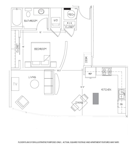 Floor Plan  Floorplan at Glass House by Windsor, opens a dialog