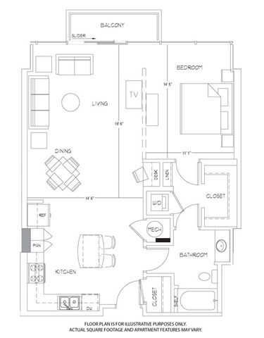 Floor Plan  A11 Floorplan at Glass House by Windsor, opens a dialog