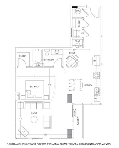 Floor Plan  A12 Floorplan at Glass House by Windsor, opens a dialog
