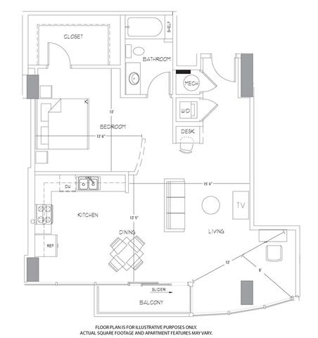 Floor Plan  A13 Floorplan at Glass House by Windsor, opens a dialog