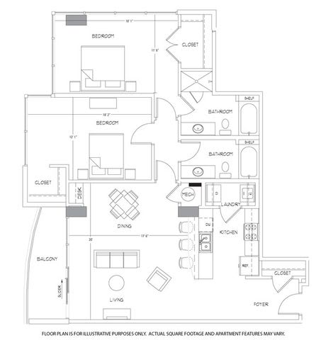 Floor Plan  B11 Floorplan at Glass House by Windsor, opens a dialog