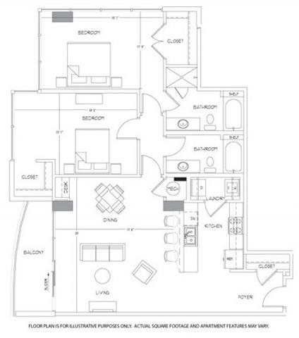 Floor Plan  B11A Floorplan at Glass House by Windsor, opens a dialog