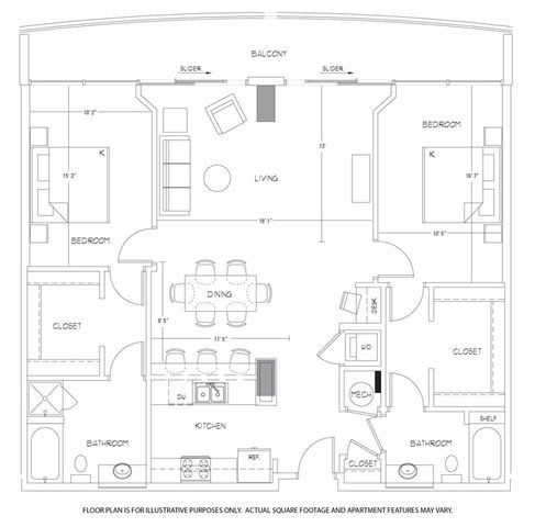 Floor Plan  B12 Floorplan at Glass House by Windsor, opens a dialog