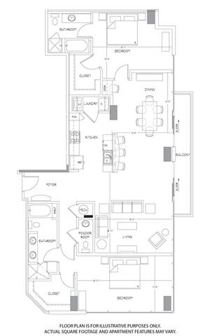 Floor Plan  B13 Floorplan at Glass House by Windsor, opens a dialog
