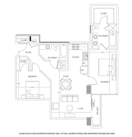 B14 Floorplan at Glass House by Windsor