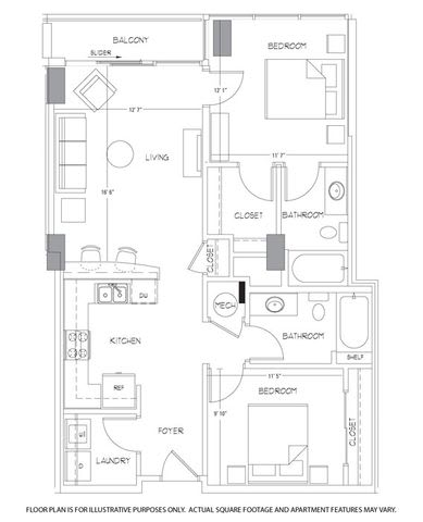 Floor Plan  B1 Floorplan at Glass House by Windsor, opens a dialog