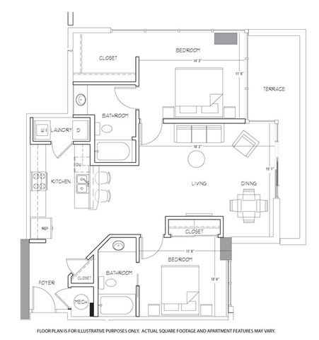 Floor Plan  B4 Floorplan at Glass House by Windsor, opens a dialog