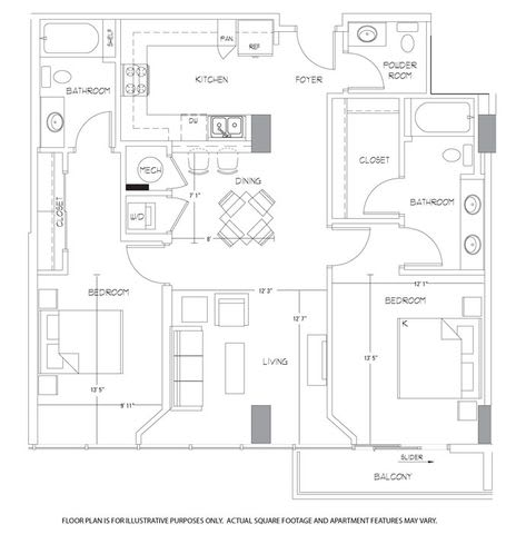 Floor Plan  B5 Floorplan at Glass House by Windsor, opens a dialog