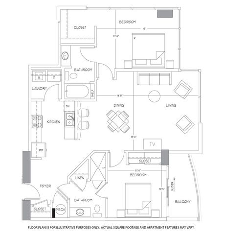 Floor Plan  B6 Floorplan at Glass House by Windsor, opens a dialog