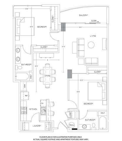 Floor Plan  B7 Floorplan at Glass House by Windsor, opens a dialog