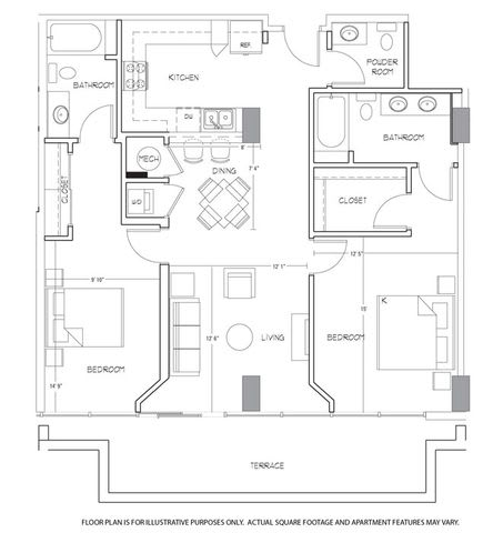 Floor Plan  B8 Floorplan at Glass House by Windsor, opens a dialog