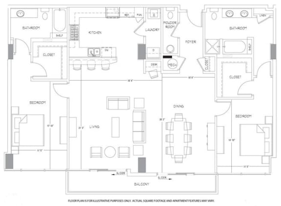 Floor Plan  PH4 Floorplan at Glass House by Windsor, opens a dialog