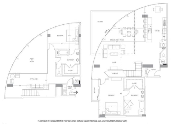 Floor Plan  PH5 Floorplan at Glass House by Windsor, opens a dialog