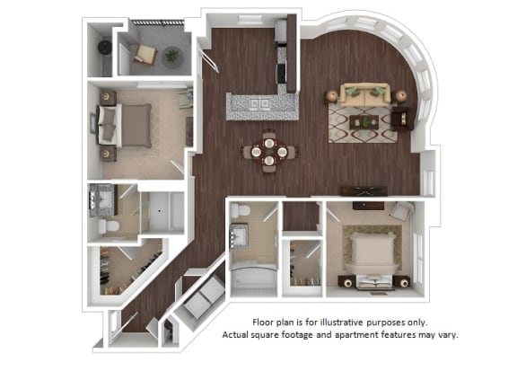 Floor Plan  Bently 2x2 floor plan at The Manhattan Tower and Lofts, Colorado, 80202, opens a dialog
