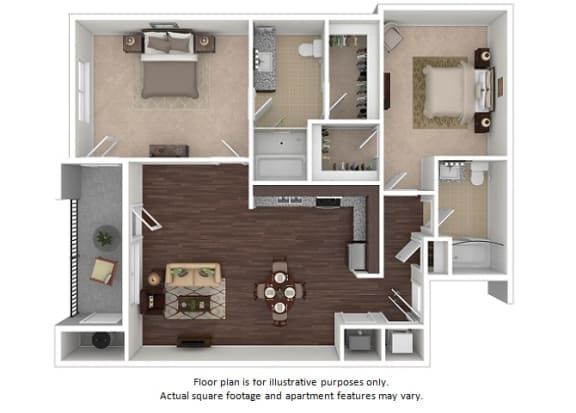 Floor Plan  Blakely 2x2 floor plan at The Manhattan Tower and Lofts, 1801 Bassett Street, 80202, opens a dialog