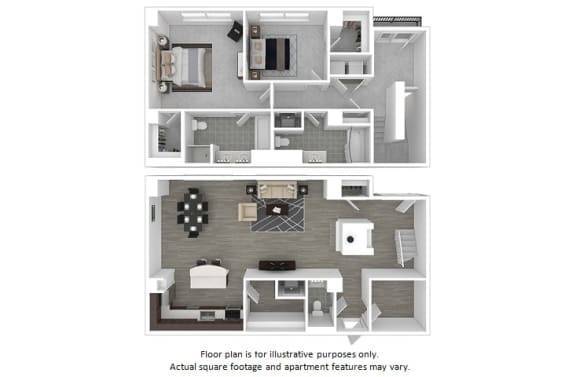 Floor Plan  Carlyle floor plan at The Manhattan Tower and Lofts, Denver, CO, opens a dialog