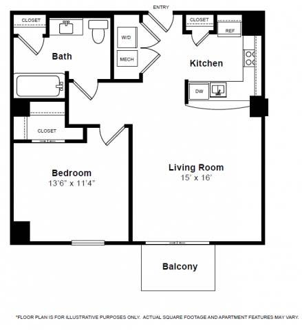 Chelsea Floorplan at The Manhattan Tower and Lofts