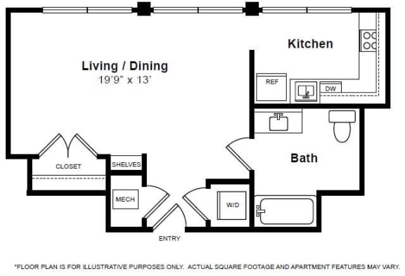 Floor Plan  Lexington Floorplan at The Manhattan Tower and Lofts, opens a dialog