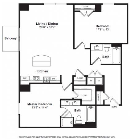 Lincoln Floorplan at The Manhattan Tower and Lofts