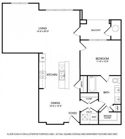 The Paramount Floorplan at The Manhattan Tower and Lofts