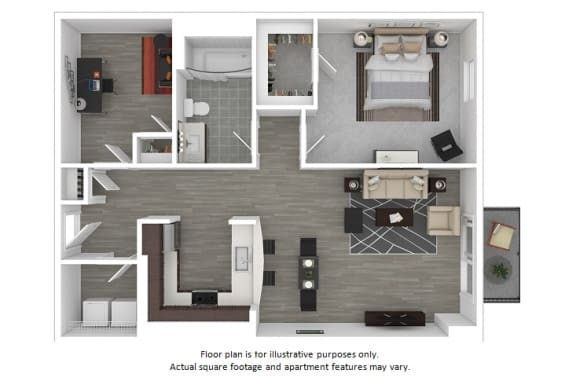 Floor Plan  Columbus floor plan at The Manhattan Tower and Lofts, Denver, Colorado, opens a dialog