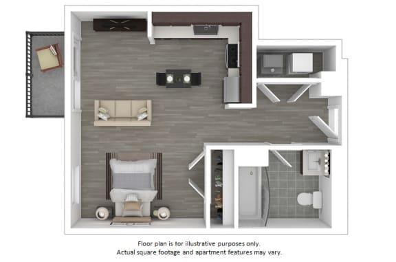 Floor Plan  Dakota floor plan at The Manhattan Tower and Lofts, 1801 Bassett Street, 80202, opens a dialog