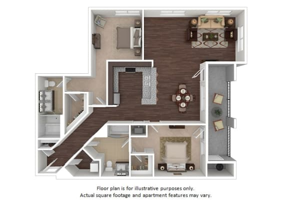 Floor Plan  Flatiron 2x2 floor plan at The Manhattan Tower and Lofts, Colorado, 80202, opens a dialog