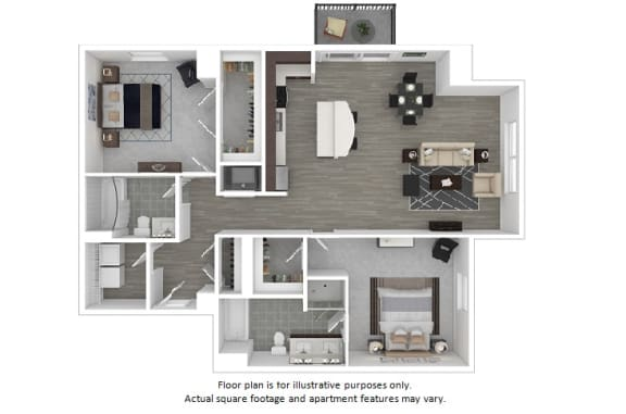 Floor Plan  Greenwhich floor plan at The Manhattan Tower and Lofts, Denver, Colorado, opens a dialog