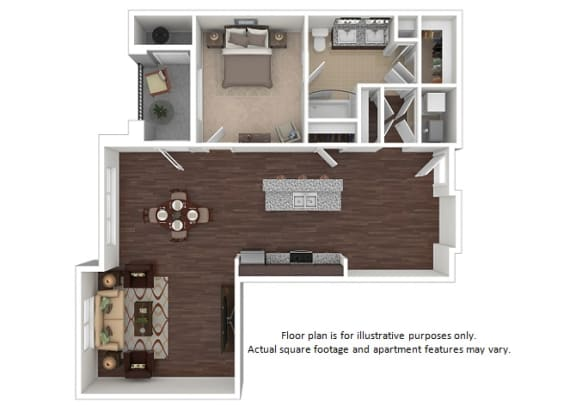 Floor Plan  Paramount 1x1 floor plan at The Manhattan Tower and Lofts, 1801 Bassett Street, 80202, opens a dialog
