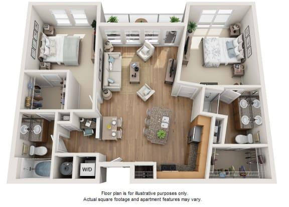 Floor Plan  Guld floor plan at Element 47 by Windsor, Denver, Colorado, opens a dialog