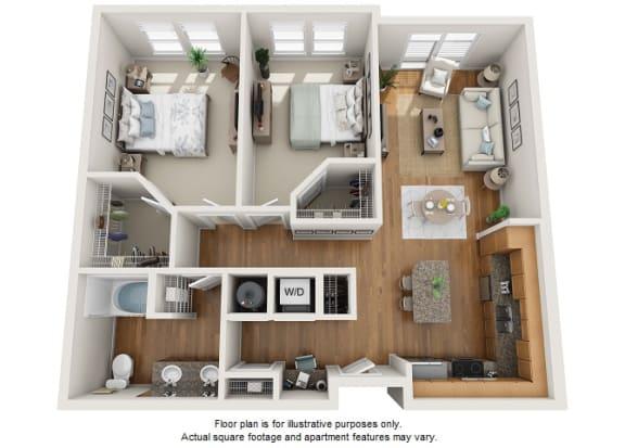 Floor Plan  Kobber floor plan at Element 47 by Windsor, Denver, CO, opens a dialog