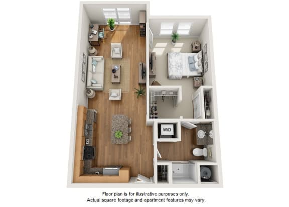 Floor Plan  Pilak floor plan at Element 47 by Windsor, Denver, Colorado