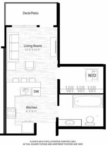 Floor Plan  Studio Floorplan at Windsor at Broadway Station, opens a dialog