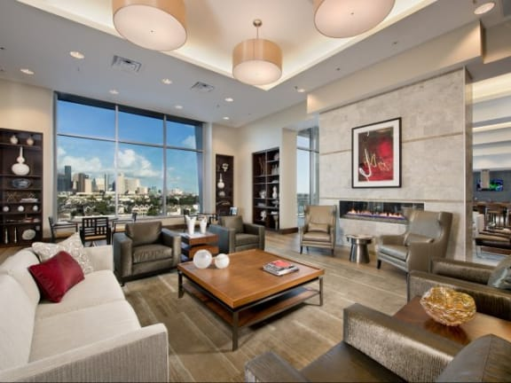 Newly Renovated Clubhouse at The Sovereign at Regent Square, 3233 West Dallas, Houston, 77019