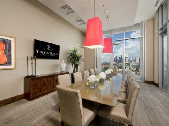 Private Dining Room at The Sovereign at Regent Square, 3233 West Dallas, TX
