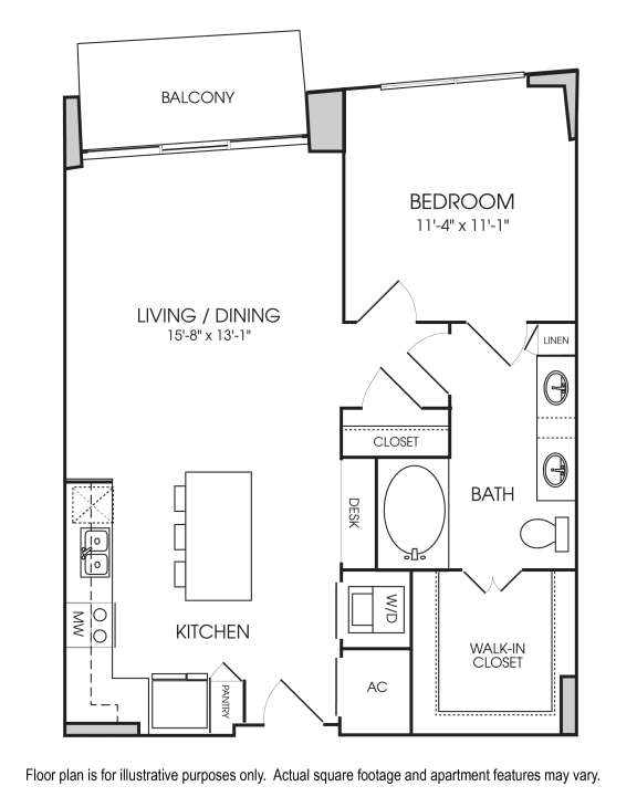 Floor Plan  A4-05 Floorplan at The Sovereign at Regent Square