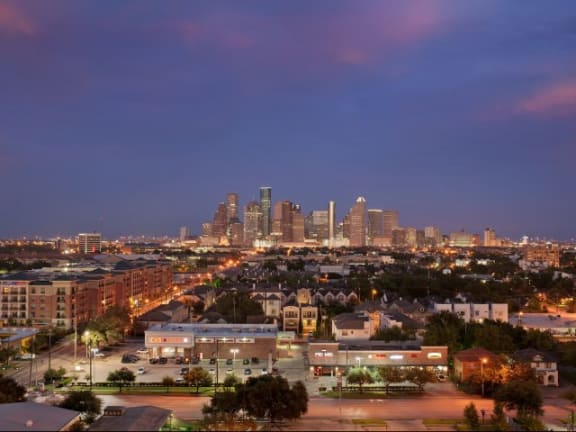 Majestic Views From Terrace at The Sovereign at Regent Square, 3233 West Dallas, Houston, TX