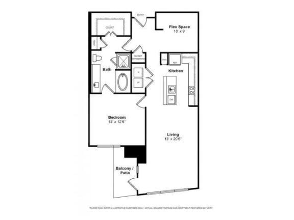 Floor Plan  Floorplan at Windsor Memorial,  Houston, TX 77007