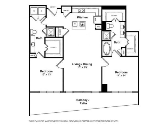 Floor Plan  Floorplan at Windsor Memorial, 3131 Memorial Court,  Houston, 77007