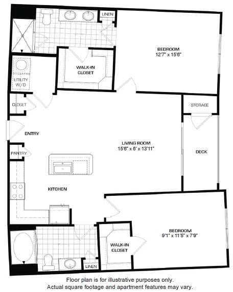 Floorplan At Domain by Windsor, TX 77077