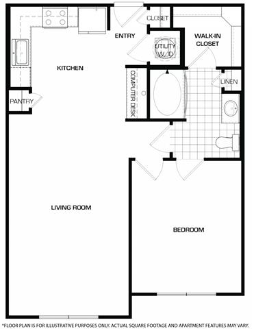 Floorplan At Domain by Windsor,1755 Crescent Plaza, Houston, TX 77077